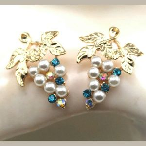 Betsey Johnson Grape Themed Earrings